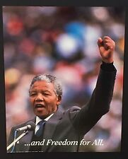 """~ 097 Nelson Mandela (""""..and Freedom for All.)~ Vintage Poster / Print 16 x 20"""