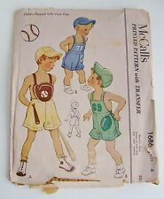 Vintage Child's Playsuit McCall's Sewing Pattern Size 4