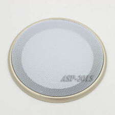 "​2X 6.5"" Speaker Coaxial Steel Sub Mesh Grills  Gold Woofer White Cover 20CM"