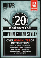20 ESSENTIAL RHYTHM GUITAR STYLES Video Lesson DVD and TAB PDF with Jimmy Brown