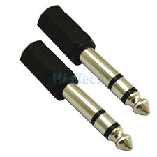 "2x 3.5mm 1/8"" Female To 6.5mm 1/4"" Male Jack Stereo Headphone Adapter Male plug"