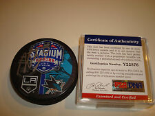 Dustin Brown Signed 2015 Stadium Series Hockey Puck PSA/DNA Go L.A. Kings! 1A