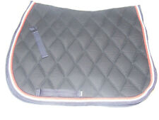 Ecotak Full size Dressage saddle Pad Navy blue with Red & White rope piping