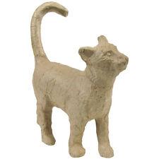 """""""Paper-Mache Figurine 4.5""""""""-Cat, Set Of 5"""""""