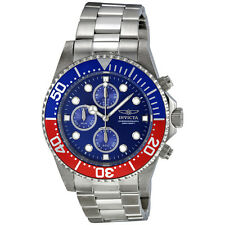 Invicta Pro Diver Chronograph Blue Dial Stainless Steel Mens Watch 1771
