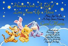 Disney Baby Winnie the Pooh Baby Shower Invitations 12 pk Personalized