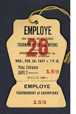 RARE 1947 CHICAGO Tournament of Champions Golden Gloves boxing ticket pass