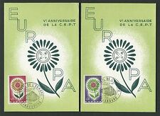 "FRANCE MK 1964 EUROPA CEPT ""STRASBOURG"" 2 MAXIMUMKARTEN MAXIMUM CARD MC CM c9506"
