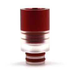 Drip Tip Metal Plexi Wide Bore DripTip 510 Mouthpieces 2 individual parts Red