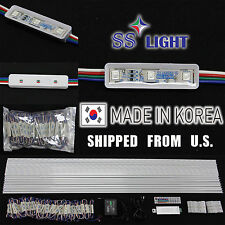 100PCS/50FT 9cm 3 RGB LED Module PACKAGE-KRGB3  12V DC SS Light Korea
