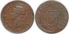 LOUIS XVI SOL 1791 A  2 SEM PARIS G.350