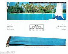 PUBLICITE ADVERTISING 046  1994  Bruno Saint Hilaire pantalons  Blue denim  skip