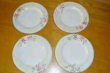 M&S Marks & Spencer 4 Hand Decorated Plates Flowers Roses Vintage Beautiful 3D