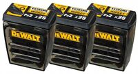 DeWalt DT70527 PZ2 Pozi 2 Extreme Impact Screw Driver 25mm pack of 25 x 3 PACKS