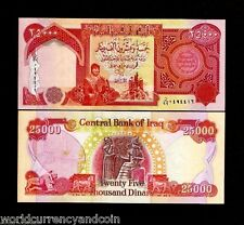 IRAQ 25000 25,000 IRAQI DINARS 99 *REPLACEMENT UNC KURD BABYLON KING MONEY NOTE
