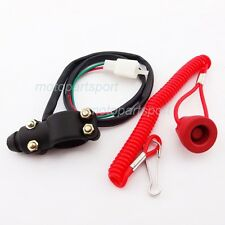 Tether Open Safety Engine Kill Stop Switch Push Button For Mini Dirt Bike Quad