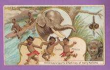 THOMAS  HOLLOWAY  LTD.  -  RARE SPORTS & PASTIMES CARD  -  CENTRAL AFRICA - 1900