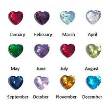 12pcs Of Month Heart BIRTHSTONE - 5mm Floating Charms for Living Memory Locket