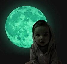 Mond leuchtend Glow Kinderzimmer Kinder Deko 30 cm Duchmesser Moon
