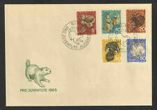 1965 SWITZERLAND Scott # B350-B354 UNADDRESSED FIRST DAY COVER - 5 STAMPS
