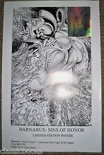 Barnabus Sins Of Honor Poster with Reflecto Card Attached
