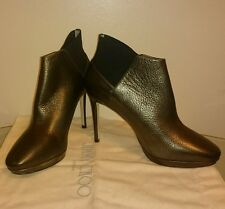 Genuine Jimmy Choo Talula 100 golden leather ankle boots size 37