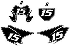 2015-2017 HONDA CRF150F Custom Pre-Printed Black Backgrounds White Pinstripe