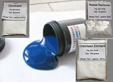 Photoresist Blue Paint+Developer+Etchant+Resist Remover DIY PCB Kit #M1426 QL