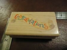 CONGRATULATIONS RUBBER STAMP QUOTES SAYINGS FUN SIMPLE FONT ON SCROLL CONGRATS