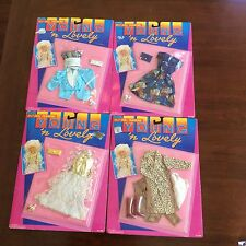 """Vintage 1987 Shillman Young N Lovely & Doll Fashions Outfits Clothes Lot 11.5"""""""