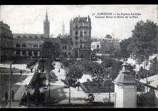 LIMOGES (87) CENTRAL HOTEL & HOTEL DE LA PAIX , SQUARE JOURDAN animé en 1916