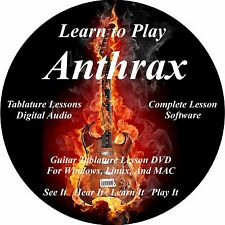 Anthrax Guitar TABS Lesson CD 84 Songs + Backing Tracks + BONUS!