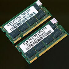 New 2GB 2x 1GB DDR333 PC2700 333MHZ Laptop 200pin Notebook CL2.5 Low Density RAM