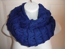 NEW women solid knitted crochet infinity circle scarf Wrap loop long scarf shawl
