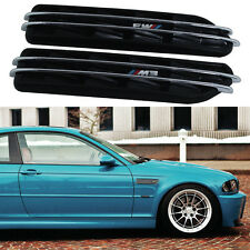 E46 E90 Black ///M Side Fender Air Flow Vents Grille Grill For BMW M3 3 Series