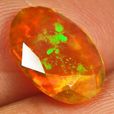 1.7CT 100% Natural Ethiopian Welo Opal Faceted Cut Play Of Color MQOL182
