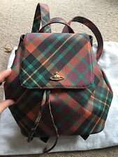 Vivienne Westwood Bag Rucksack Backpack Tartan BNWT Selfridges Handbag