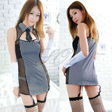Halloween Ladies Adult Girl Sexy Secretary Costume  Fancy Dress Cosplay Outfit