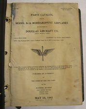 1941 B-18 Bombardment Airplane Parts Catalog-Not Illustrated