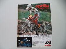 advertising Pubblicità 1976 MOTO APRILIA SCARABEO 50 MINARELLI CROSS