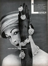 Lisner Bouquet Design FASHION JEWELRY Geisha Painted Face PRETTY SUMMER 1957 Ad