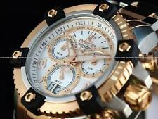 New Invicta Reserve 13716 Arsenal Swiss Made Chrono Two Tone 18K RGP MOP Watch