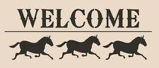 Stencil WELCOME Horses Farm Sign Pillow Crafts Country Cottage
