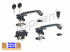 VW GOLF MK3 LOCK SET DOOR HANDLES TAILGATE LOCK IGNITION LOCK 1H0898081S A1005