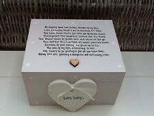 Shabby Personalised Chic Mother Of The Groom From Bride Wedding Gift Trinket Box