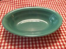 Harlequin Fiesta -  Homer Laughlin Spruce Green Oval Serving Bowl 9 inch
