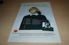 TIM BURGESS - OH NO I LOVE YOU  !!!!!!! PUBLICITE / ADVERT !!! UK !!!
