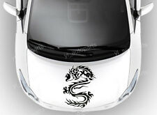 "Car Front Hood Body Graphic Vinyl Sticker Decal Fire Dragon Black 17"" Racing NEW"
