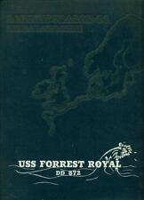1964 USS FORREST ROYAL DD-872 U. S. NAVY NORTH ATLANTIC CRUISE BOOK