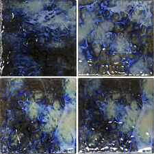 1 SF 6x6 Blue Blend Porcelain Tile for Wall Backsplash Swimming Pool Bathroom